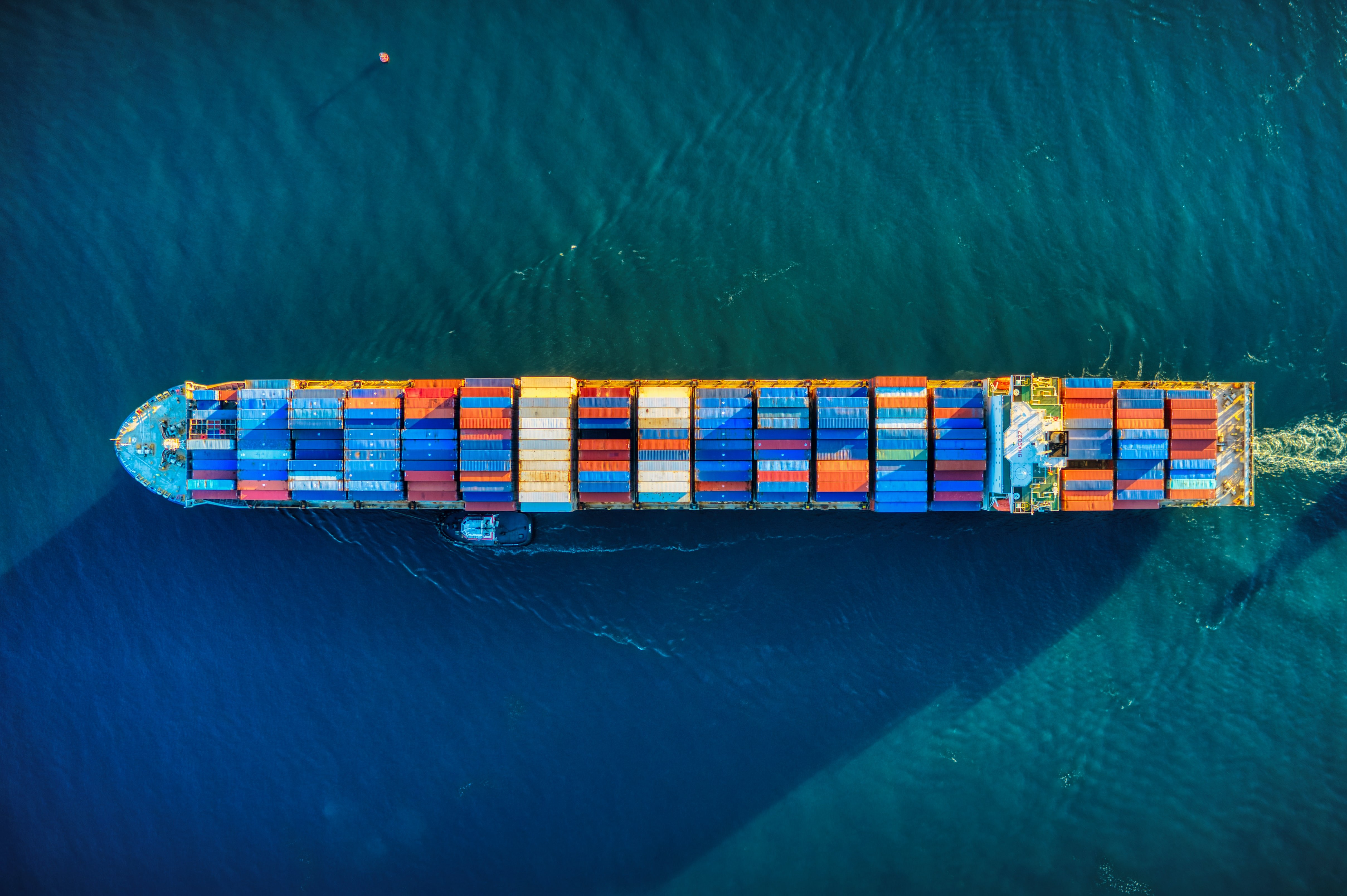 Photo by Cameron Venti: A cargo ship